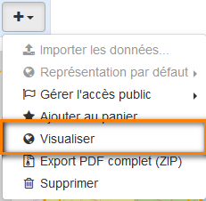 "Copie-écran ""Action Visualiser"""